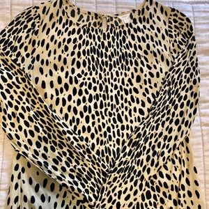 JCrew animal print blouse, size 0